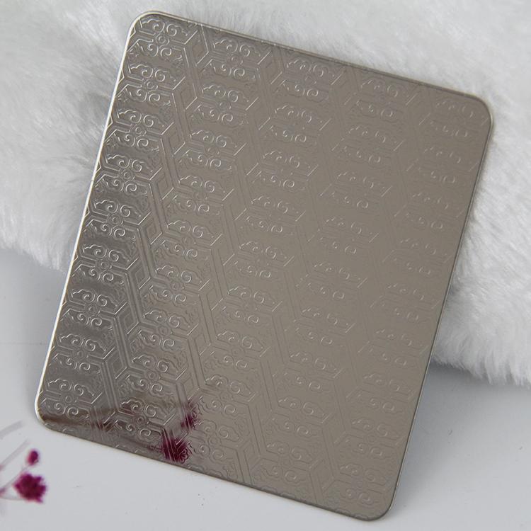 不锈钢和纹压花板