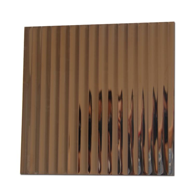不锈钢波纹压花板